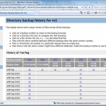 Directory backup history for m2