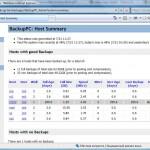 BackupPC: Host Summary