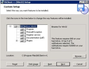 При установке NSClient++отмечаем все компоненты