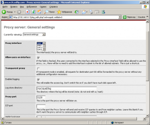 Настройка параметров proxy сервера Squid